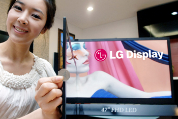 World's Thinnest LG LCD TV